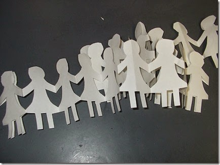 paper doll chains