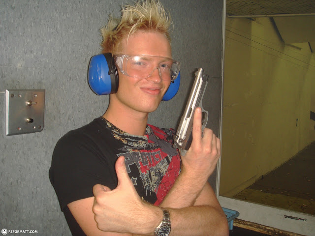 holding a shiny beretta in Las Vegas, Nevada, United States