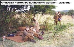 kommando oefening Rustenburg groep Sept 2011