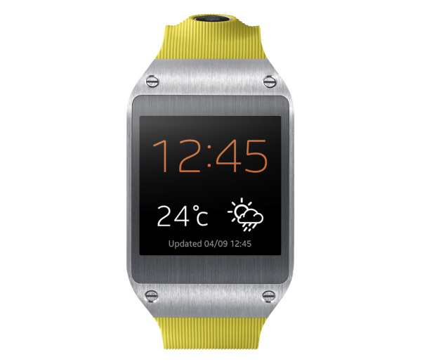 Galaxy gear 001 front lime green