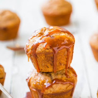 Salted Caramel Buttermilk Brown Sugar Muffins