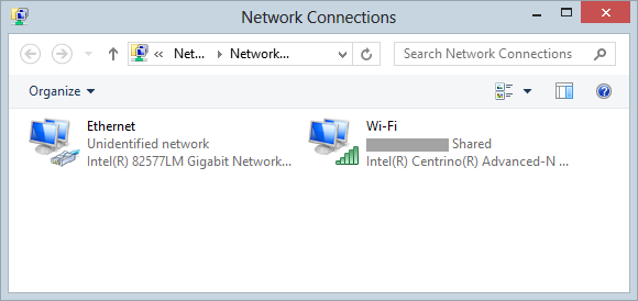 Network Connections in Windows