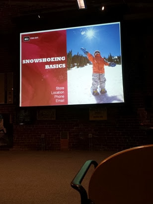 Snowshoeing class