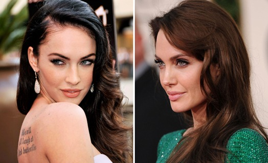 famosos-parecidos-megan-fox-angelina