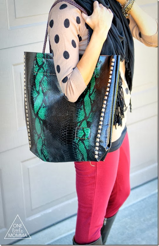 Win this snakeskin bag at ONE little MOMMA