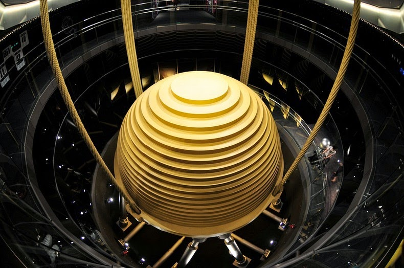 the 728 ton tuned mass damper of taipei 101 amusing planet