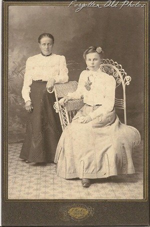Cabinet Card Two women DL Antiques