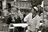 Urumqi - Marché de rue, cuisinier
