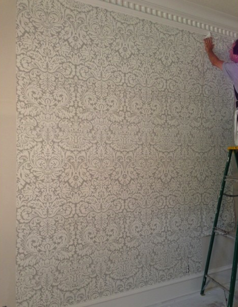 Damask | Farrow & Ball Silvergate Wallpaper | Paloma Contreras Design