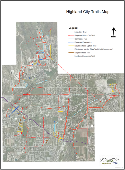 Highland City Trails Map