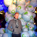 watching globes at 5:30am at Nuit Blanche 2014 in Toronto, Ontario, Canada