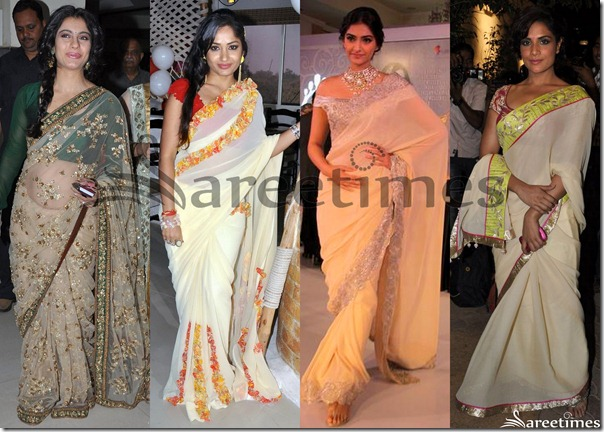Cream_Designer_Sarees_Latest