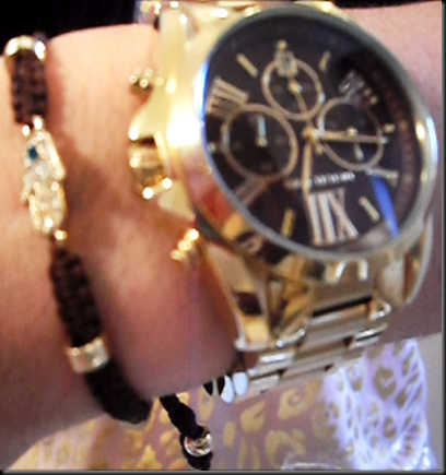 watch and hamsa bracelet