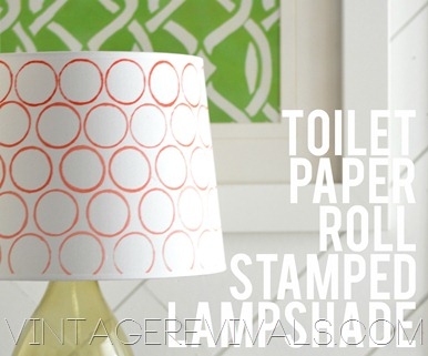Toilet Paper Roll Stamped Lampshade Tutorial
