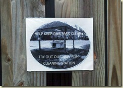 Fish Clean Sign 1