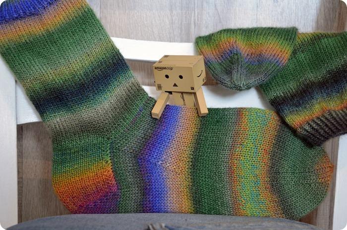 Zwei 20fünfzehn (05) Katia Olé Socks Rainbow einfach Gr. 41 bis 43