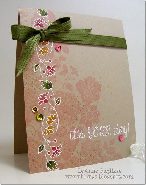 LeAnne Pugliese WeeInklings Hello Darling Bordering Blooms Fabulous Four Stampin Up