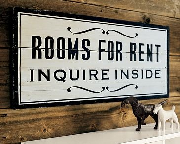 ROOMS FOR RENT SIGN