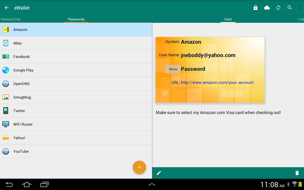 eWallet - Password Manager Screenshot 10