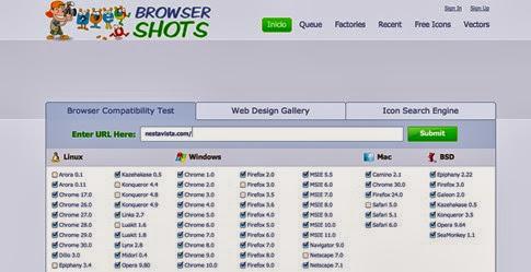 Browsershots - ver mi página en distintos navegadores