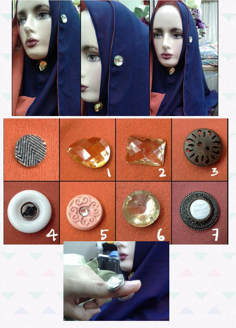 Creative De Iruka Magnetic Brooches Utk Tudung Baju Pin
