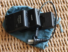 My three camera battery chargers can share just one short power lead