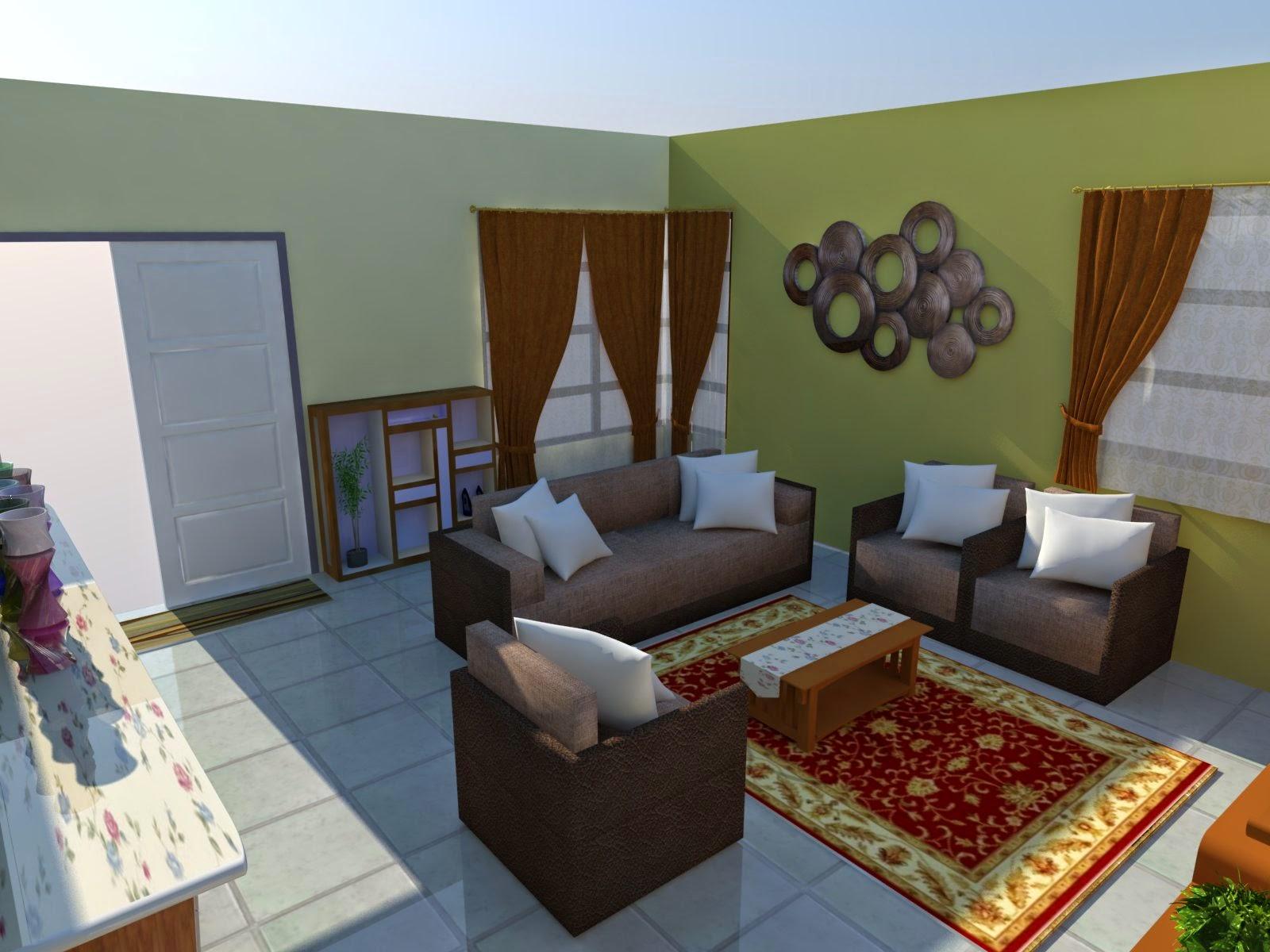 deko ruang tamu rumah kos rendah desain rumah