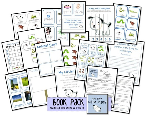 Kindergarten Ideas for Poky Little Puppy Free Printables