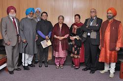 Dr Amrik Singh Chattha, Bhayee Sikandar Singh, Prof Gurinder Singh Mann, Dr Gurpreet Maini, Mrs Gursharan Kaur, Dr Jaswinder Kaur, Prof B N Goswamy and Roopinder Singh