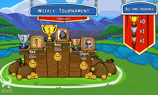 Tournaments with new levels every week!