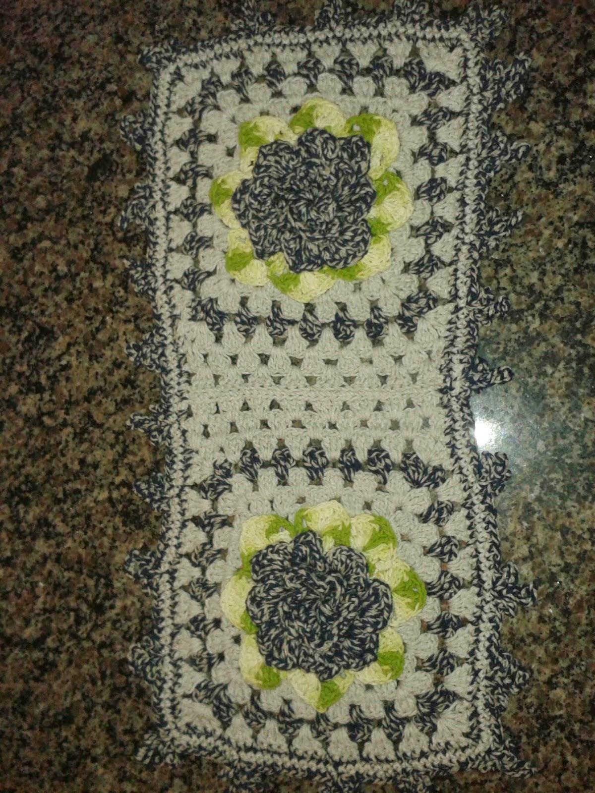 Crochê Da Nete: Jogo de banheiro Cinza Flor Nathy #868D3E 1200 1600