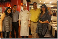 Arpana, Shanky, Chef Liang, me, Rushina