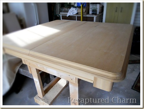 Solid Wood Table stained 008a
