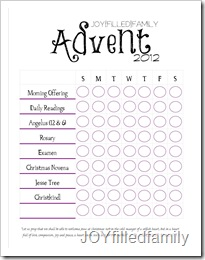 Advent Checklist - JOYfiledfamily