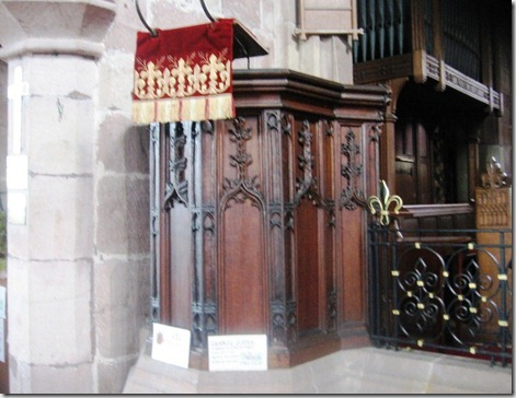 beautiful wood pulpit