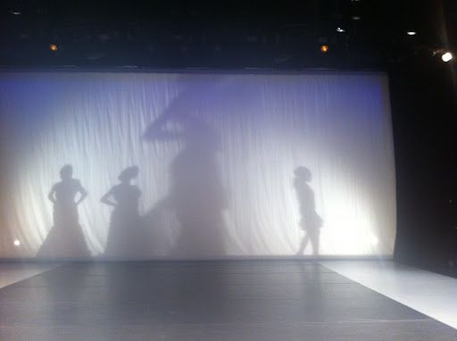 The show was held at Alvin Ailey American Dance Theater. The models' entrance was so dramatic.