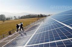 Instalação de placas de energia solar na Suíça