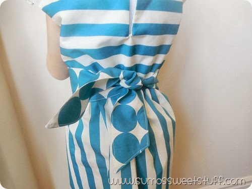 Stripes & Dots Dress at SumosSweetStuff.com using Modern Yardage fabric