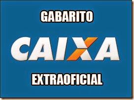 CAIXA - GABARITO EXTRAOFICIAL 2014
