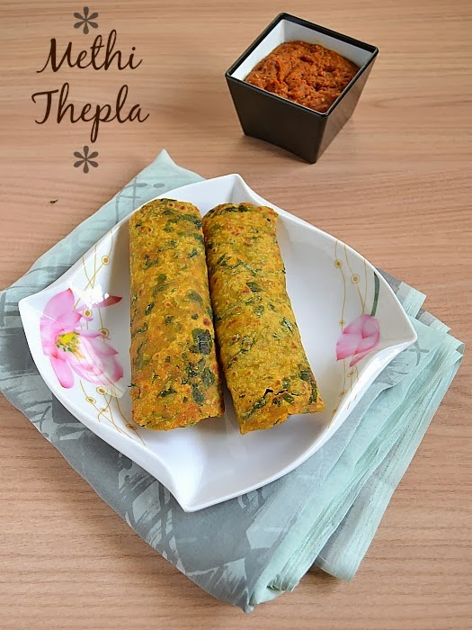 Gujarathi methi thepla recipe