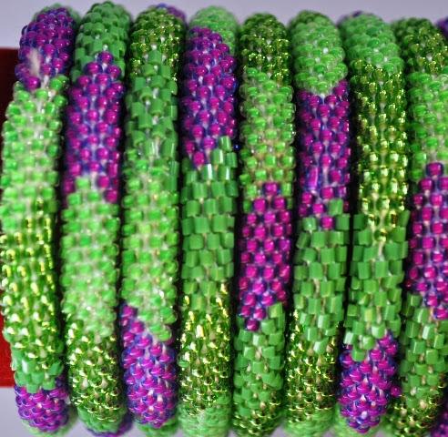 Rollover Green Series Bead Bracelets