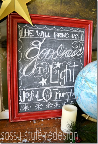 christmas decor chalkboard 2