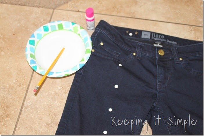 DIY polka dot shorts (6)