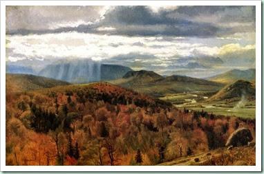 autumn landscape vermont