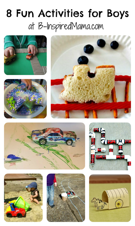 Boys Activities from the Kids Co-Op Collage