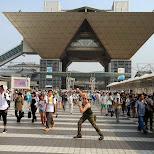 guile in front of Tokyo Big Sight in Japan in Tokyo, Tokyo, Japan