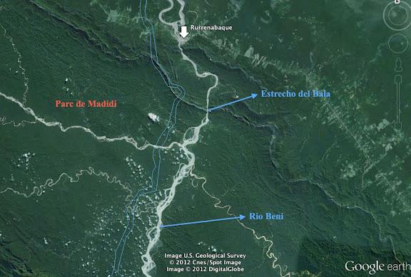 Le Rio Beni au sud de Rurrenabaque