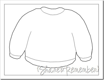 sweater outline drawing pattern