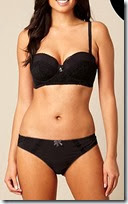 B by Ted Baker Black Multiway Longline Bra