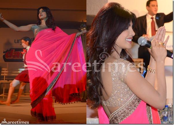 Priyanka_Chopra_Pink_Saree